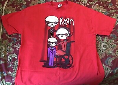 KORN - Family Values, RARE T-Shirt, Red, Size Men's XL, VG Condition! Smoke-Free