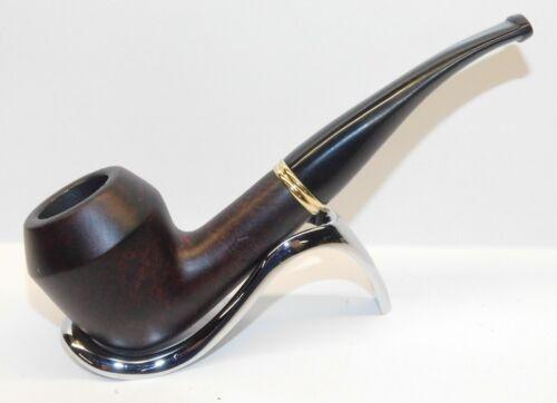 "Mitchell Thomas Briar Tobacco Pipe Curved Bulldog Dark Red 6"" - New - MTD30"