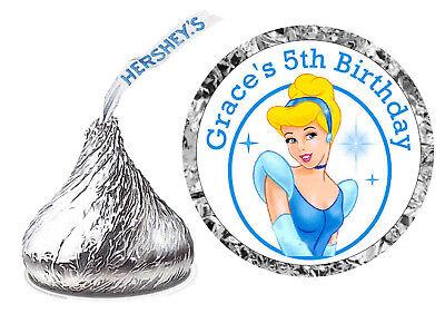 216 CINDERELLA BIRTHDAY PARTY FAVORS HERSHEY KISS KISSES LABELS (Cinderella Birthday)