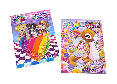 NEW Set of 2 Lisa Frank Kids Coloring Book and Activity Books Set