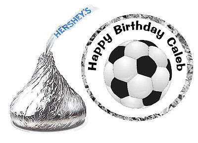 SOCCER BIRTHDAY PARTY FAVORS HERSHEY KISS KISSES LABELS