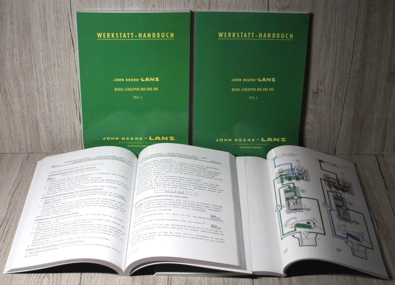 John Deere Lanz 500 Schlepper Bedienungsanleitung Betriebsanleitung Handbuch