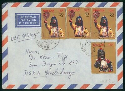 Mayfairstamps Bhutan to West Germany Airmail Cover wwo90483