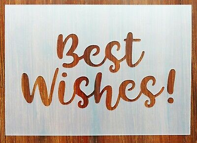 Best Wishes! Stencil Mask Reusable PP Sheet for Arts & Crafts - Best Mask For Halloween