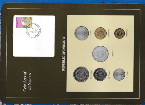 Coin Sets of All Nations Djibouti w/card 1977-1991 UNC 50 Francs 1989  26.10.92