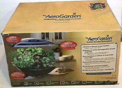 (NEW OPEN BOX) AeroGarden Classic 7-Pod (BLACK) Indoor Hydroponic Growing System