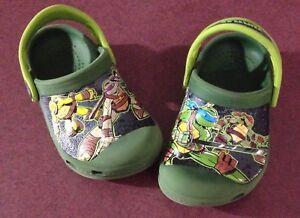 Ninja Turtles Crocs Size 6/7 Toddler