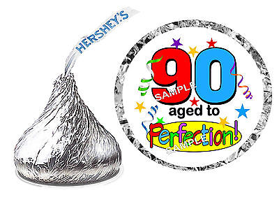 216 ~ 90th BIRTHDAY PARTY FAVORS HERSHEY KISS KISSES LABELS Design #3 - 90th Birthday Party