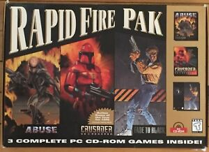 Rapid Fire Pak Origin PC CD Games Abuse Crusader Fade to Black