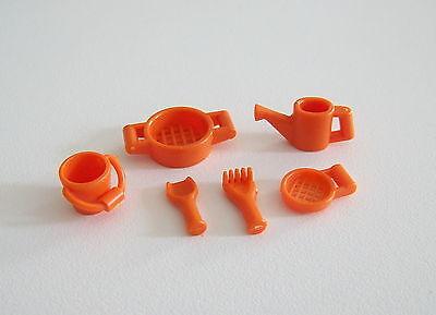 PLAYMOBIL (1505) ENFANTS - Lot de Jouets Orange pour Bac à Sable & Plage Mer