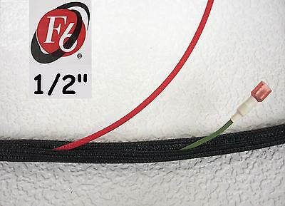 12 Flexo F6 Braided Cable Sleeving Wrap Split Loom Techflex F6N050BK