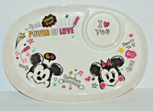 Disney Store Mickey Minnie Mouse Childs TV serving tray plastic preowned