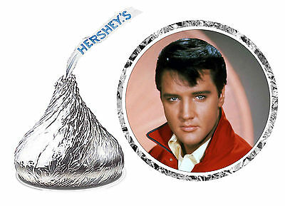 108 ELVIS PRESLEY BIRTHDAY PARTY FAVORS HERSHEY KISSES LABELS unpersonalized - Elvis Presley Party Supplies