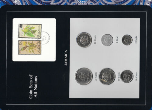 Coin Sets of All Nations Jamaica w/card 1975 UNC 20 cents KM48 Low Mint 10,000