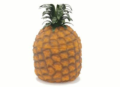 Pineapple Ice Bucket Yellow Vintage Retro Plastic Bar Novelty Gift With Lid