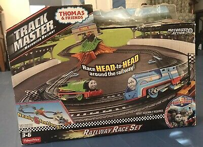 Thomas And Friends Motorized Railway Race Set, Racing Train Set Tested, Working!