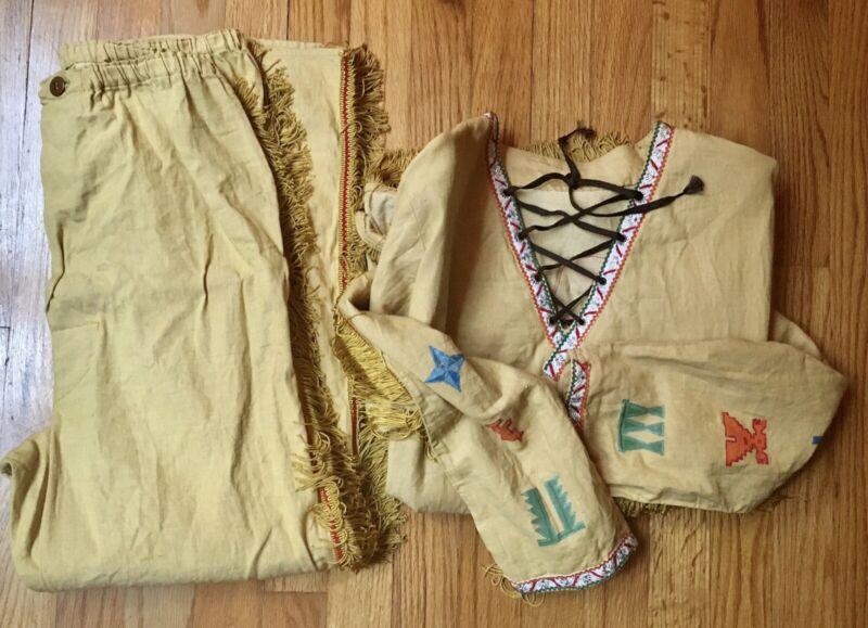 Vintage Native American Indian Costume Kids Handmade Size Large