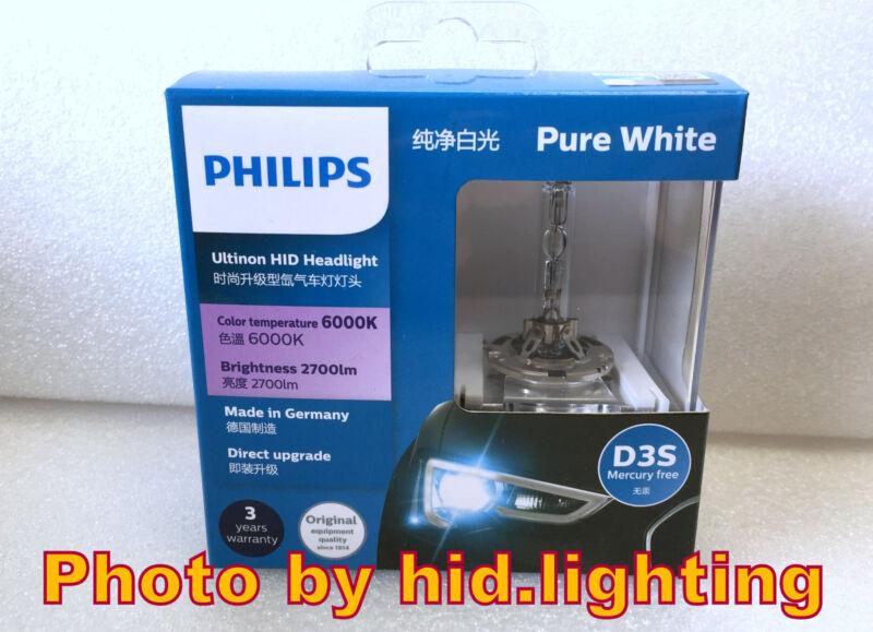 Genuine Philips 6000K Ultinon Flash Pure White D3S HID XENON Bulb lamp light