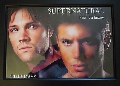 Supernatural Tv Show Poster Jared Padalecki Jensen Ackles Sam Dean Winchester