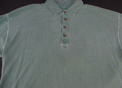 Abercrombie & Fitch Mens Pullover Knit Short Sleeve Green Polo Shirt Large L