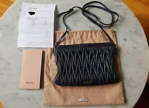 Authentic Miu Miu matelassé clutch with receipt Albert Park Port Phillip Preview