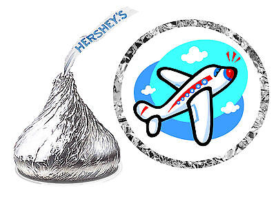 216 AIRPLANE BIRTHDAY PARTY FAVORS HERSHEY KISS - Airplane Birthday Party