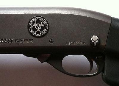 - DURABLE METAL DECAL Shotgun Rifle ZOMBIE OUTBREAK RESPONSE fits Remington 870