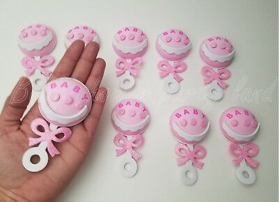 Baby Shower Pink Foam Rattles Party Decorations it's a Girl Favors Prizes Gifts (Baby Rattle Favors Baby Shower)