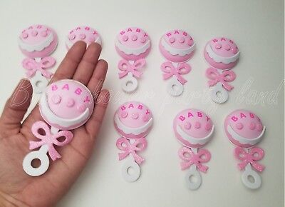 Baby Shower Pink Foam Rattles Party Decorations it's a Girl Favors Prizes Gifts](Decorating A Baby Shower)