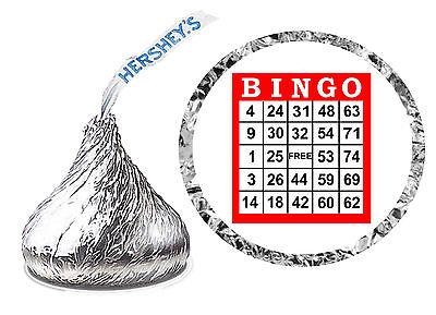 216 BINGO BIRTHDAY PARTY FAVORS HERSHEY KISS LABELS (Bingo Party)