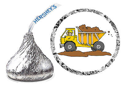 216 DUMP TRUCK CONSTRUCTION BIRTHDAY PARTY FAVORS HERSHEY KISS - Construction Party Favors