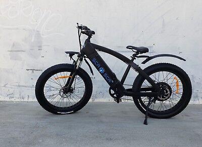SCA Electric Fat Tire Bicycle 40 Miles Range 1000Watt Brushless Hub Motor