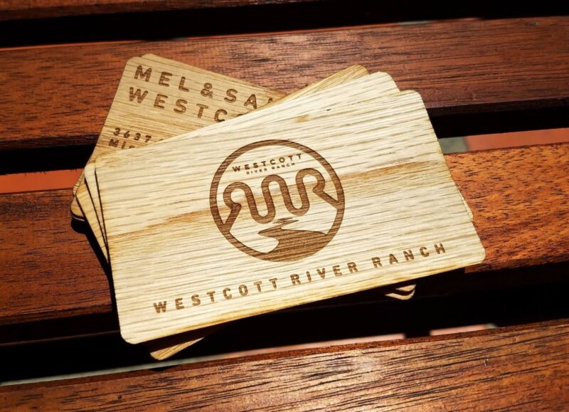 Wood Business Cards | Double-sided Business Cards | 50 Engraved Business Cards