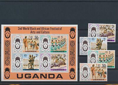 LO17999 Uganda arts festival & culture folklore fine lot MNH