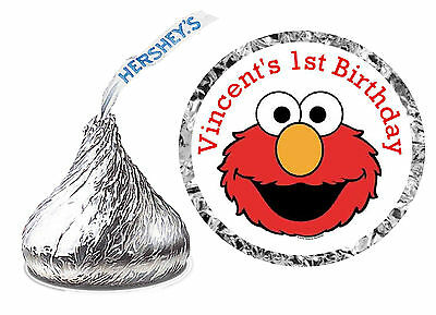 Elmo Party (108 ELMO SESAME STREET BIRTHDAY PARTY FAVORS HERSHEY KISS)