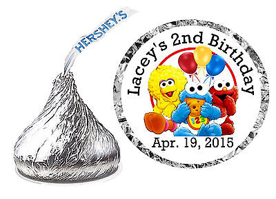 108 BABY SESAME STREET BIRTHDAY PARTY FAVORS HERSHEY KISS LABELS](Sesame Street Birthday Party Favors)