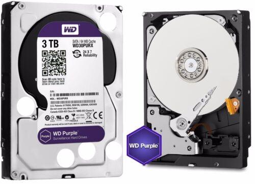 WD Purple 3TB Internal Serial ATA Hard Drive (OEM/Bare Drive) Silver WD30PURXSP