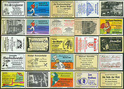 25 alte Gasthaus-Streichholzetiketten aus Deutschland #580