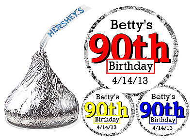 216 ~ 90th BIRTHDAY PARTY FAVORS HERSHEY KISS KISSES LABELS - 90th Birthday Party