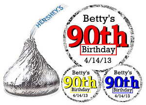 216-90th-BIRTHDAY-PARTY-FAVORS-HERSHEY-KISS-KISSES-LABELS