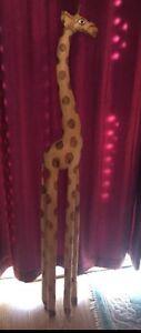 Wooden giraffe (about 5ft)