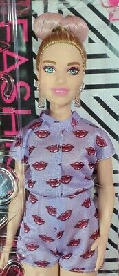 Barbie Fashionistas Lavender Kiss #75 Curvy New In Box Mattel Doll