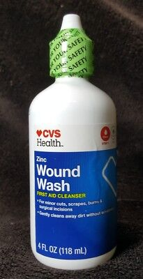 CVS Zinc Wound Wash First Aid Cleanser ~4 oz ~Exp 7/20 ~Cleans Without Scrubbing