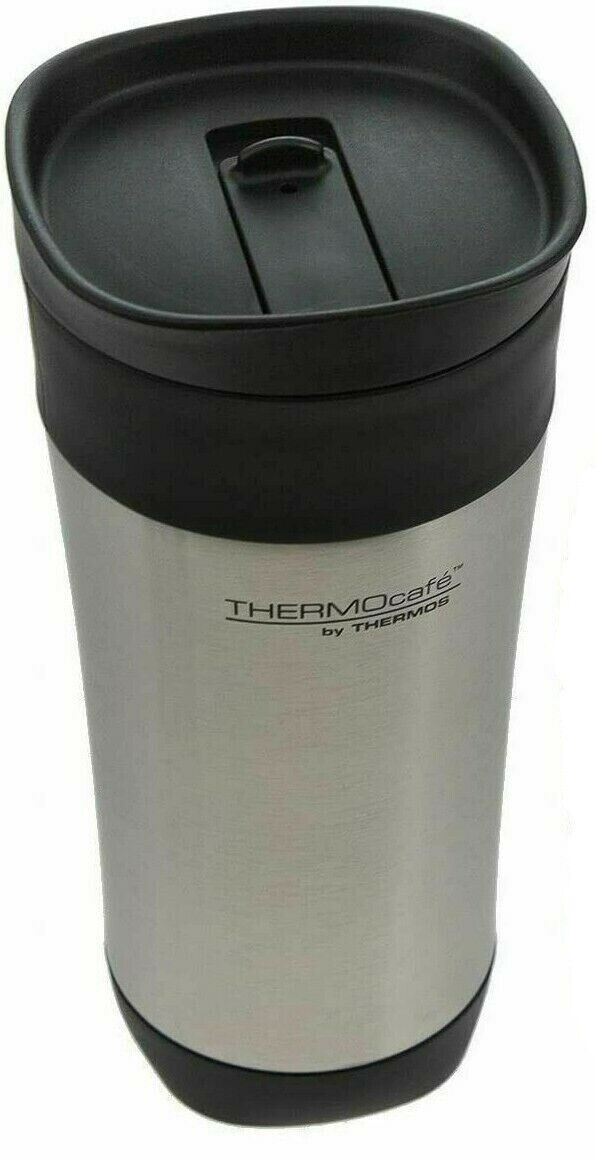 Thermos Insulated Coffee Mug 16 oz. Travel ThermoCafe Vacuum Stainless Steel Home & Garden