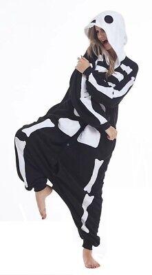 Unisex Halloween Skelett Onesiee Kigurumi Pyjama Nachtwäsche Karneval Kostüm
