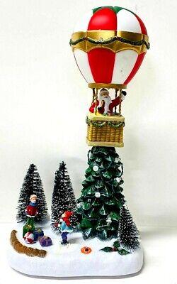Christmas LED Musical Santa Hot Air Balloon Village Scene