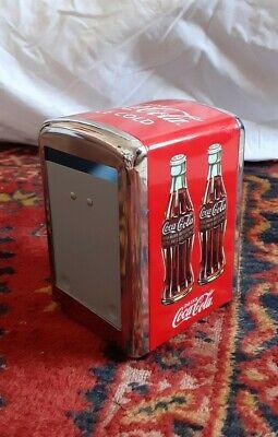 Vintage / Retro Coca Cola Napkin Holder Dispenser Metal Chrome 50's Diner Style