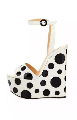 NEW  CHRISTIAN LOUBOUTIN Bibariellita Bubble Up Wedge Sandal  Size 38 $1145