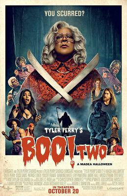BOO 2 A MADEA HALLOWEEN MOVIE POSTER 2 Sided ORIGINAL Ver B 27x40 TYLER PERRY (Boo Halloween Movie)