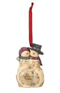 Two Expecting Snowmen Ornaments